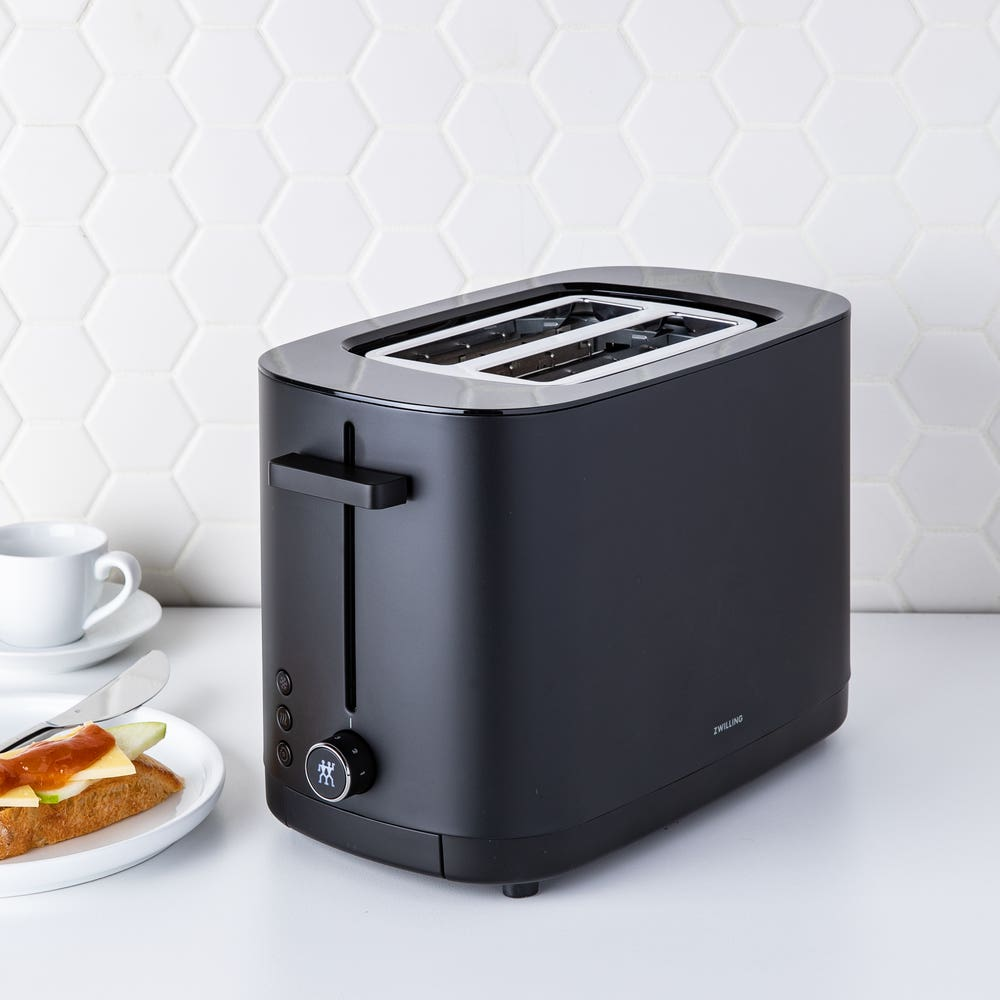 ZWILLING Enfinigy 2 Slice Toaster (Black/Silver)