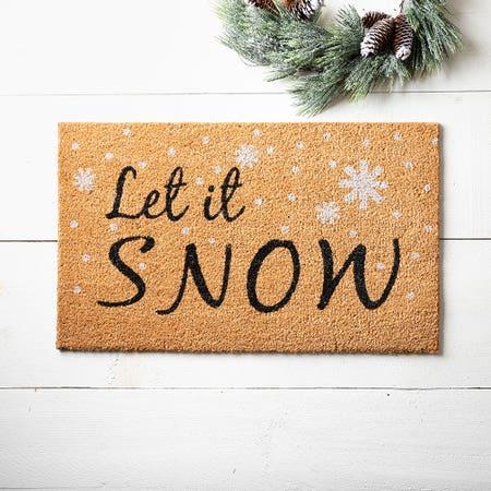 Ksp Coir Mat Let It Snow