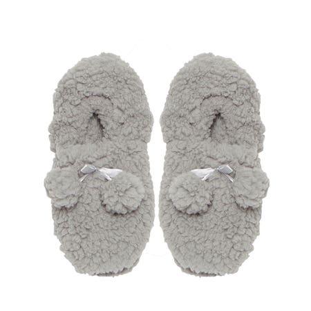 Kozie Slippers Sherpa Grey