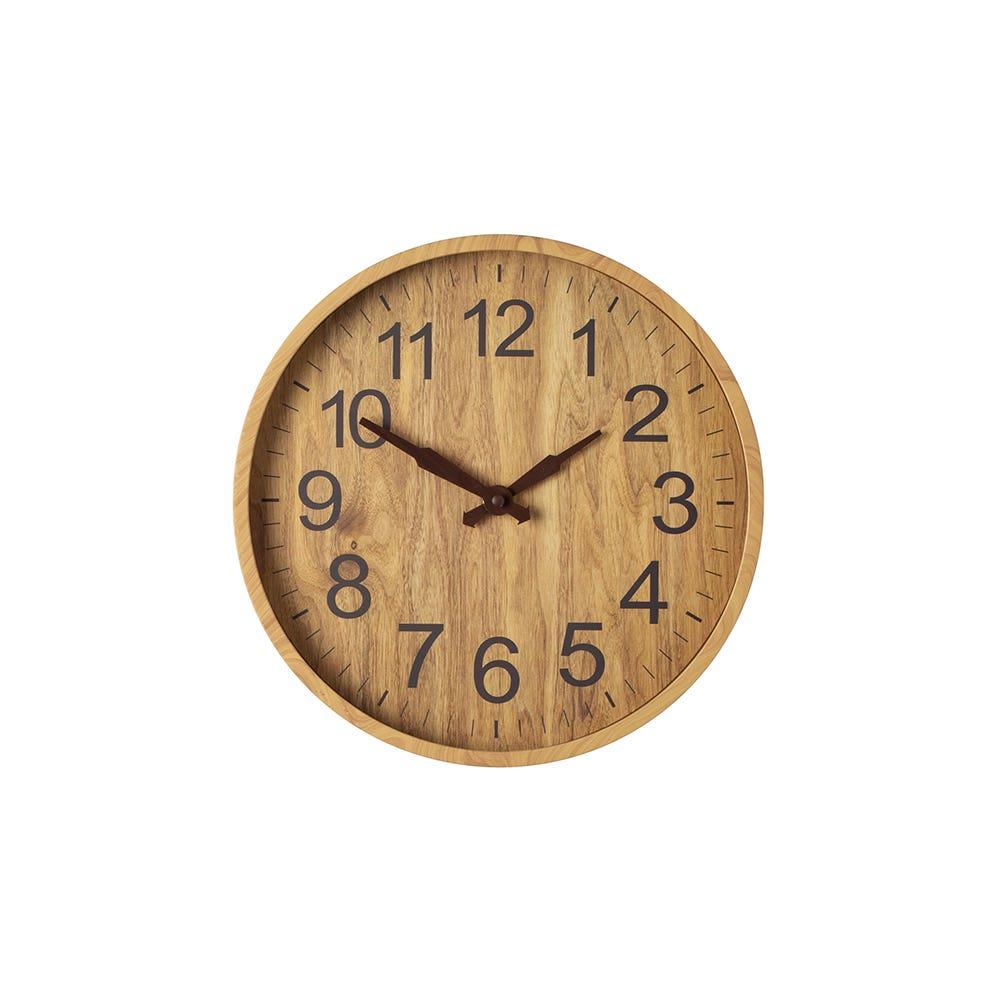 Wall Clock 12 Woodgrain Light