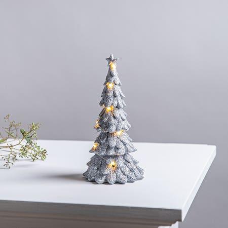 Xmas Led Glitter Tree Small