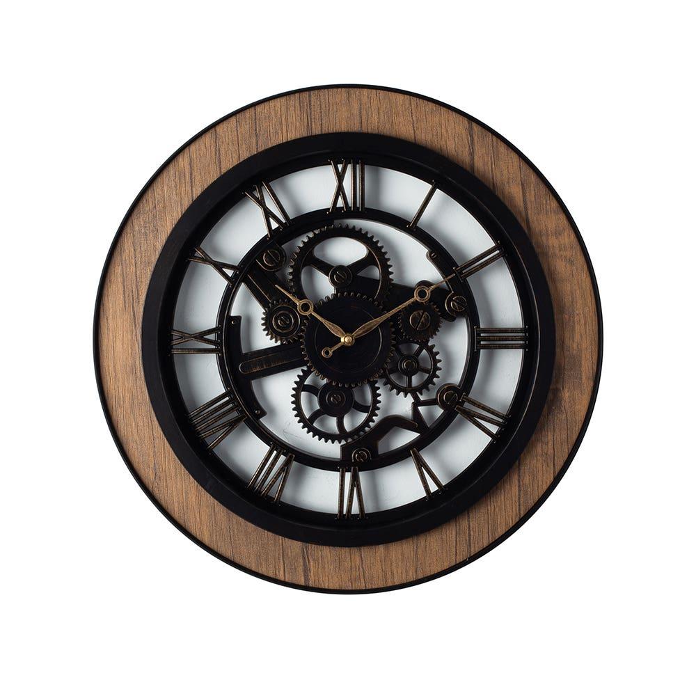 Wall Clock 20 Bryce Blk Gold