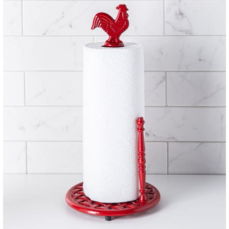 C Iron Paper Towel Holder Red
