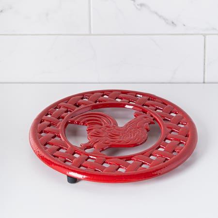 C Iron Trivet Red