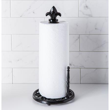 C Iron Paper Towel Holder Blk