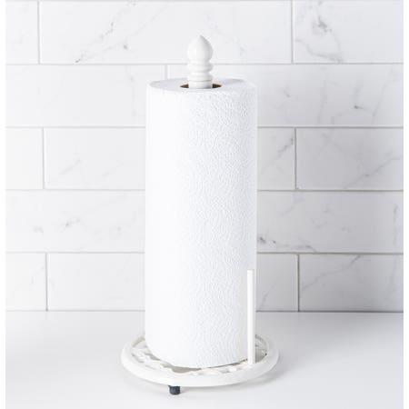 C Iron Paper Towel Holder Wht