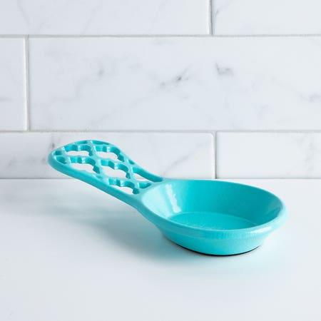 C Iron Spoon Rest Turquoise
