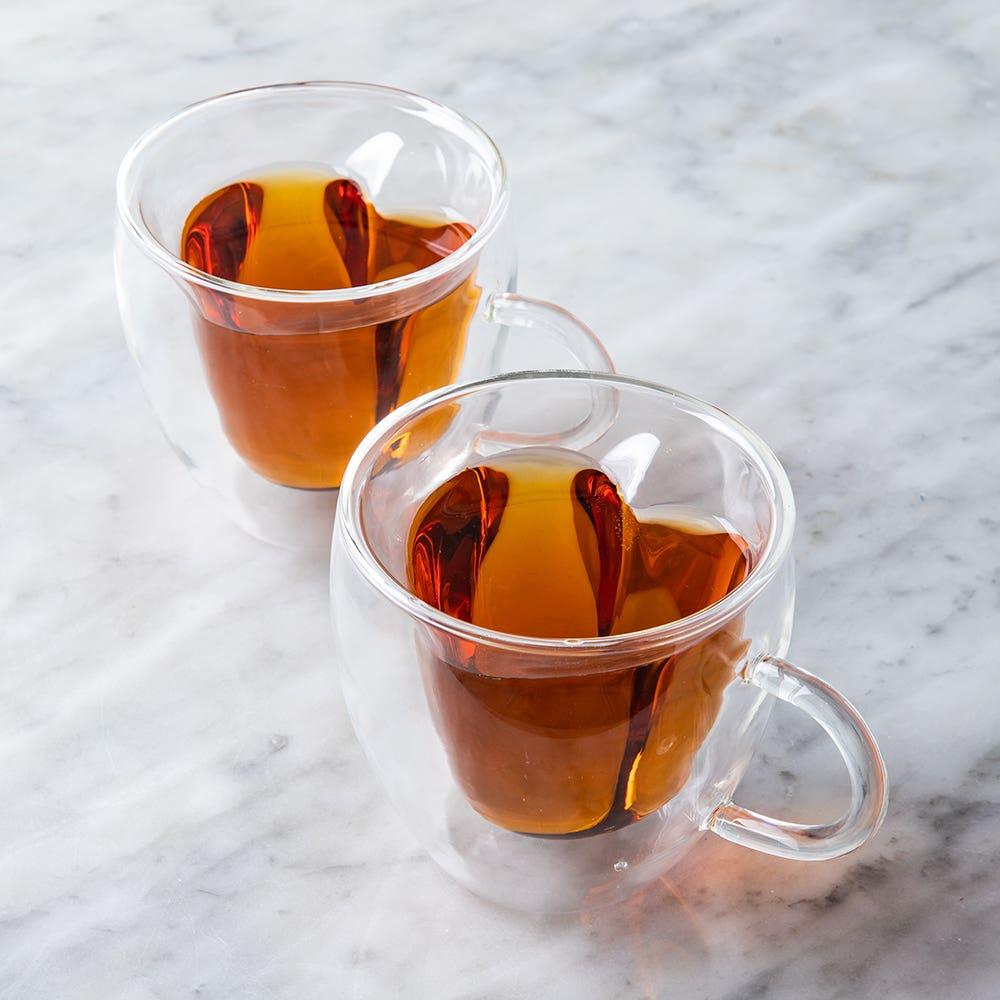 Pasabahce Barista Amore Double Wall Glass Coffee Mug - Set of 2