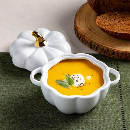 Tuscana Pumpkin Bowl White