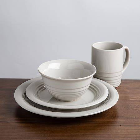 M Stewart Dinnerware S 16 Grey