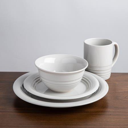 M Stewart Dinnerware S 16 Wht