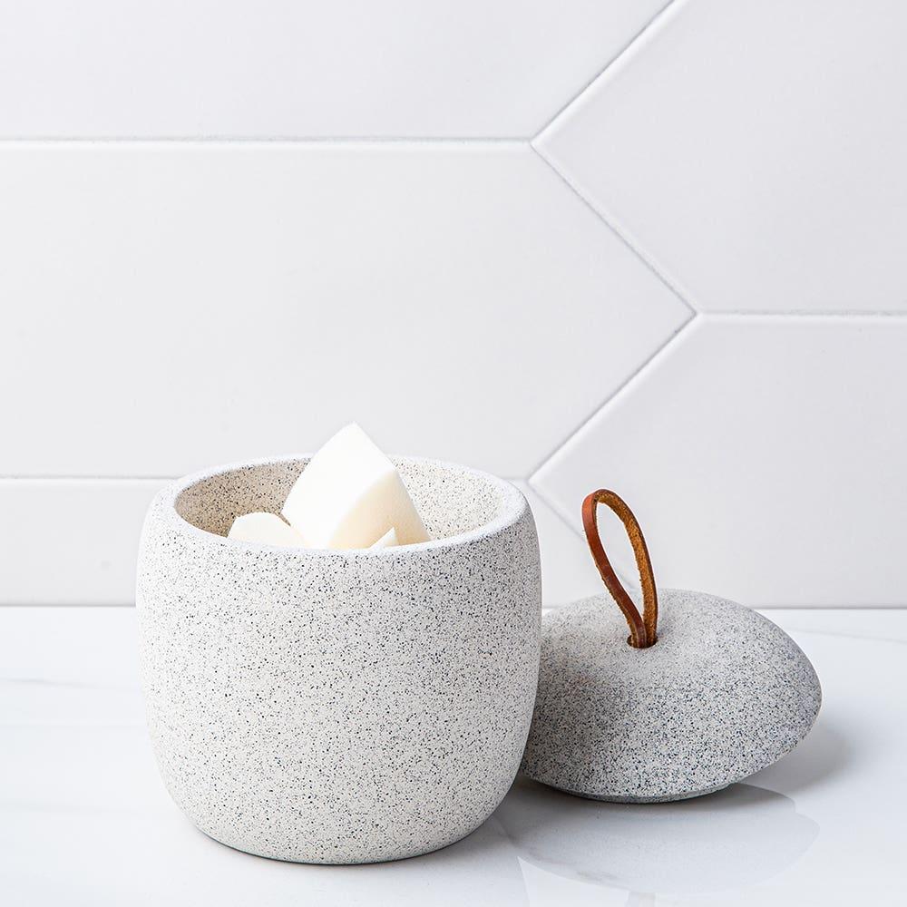 Moda At Home Harstad Cement Cotton Jar (Grey)
