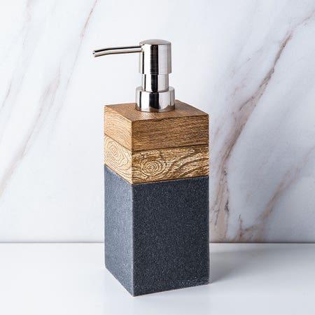Kenora Soap Pump Grey Brown