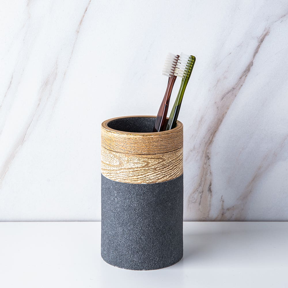 Moda At Home Kenora Resin Tumbler (Grey/Brown)