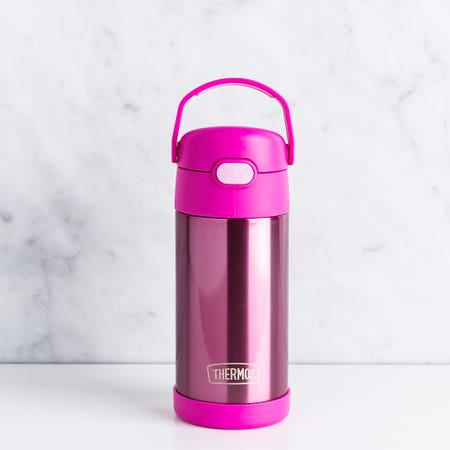 Funtainer Straw Bot 12Oz Pink