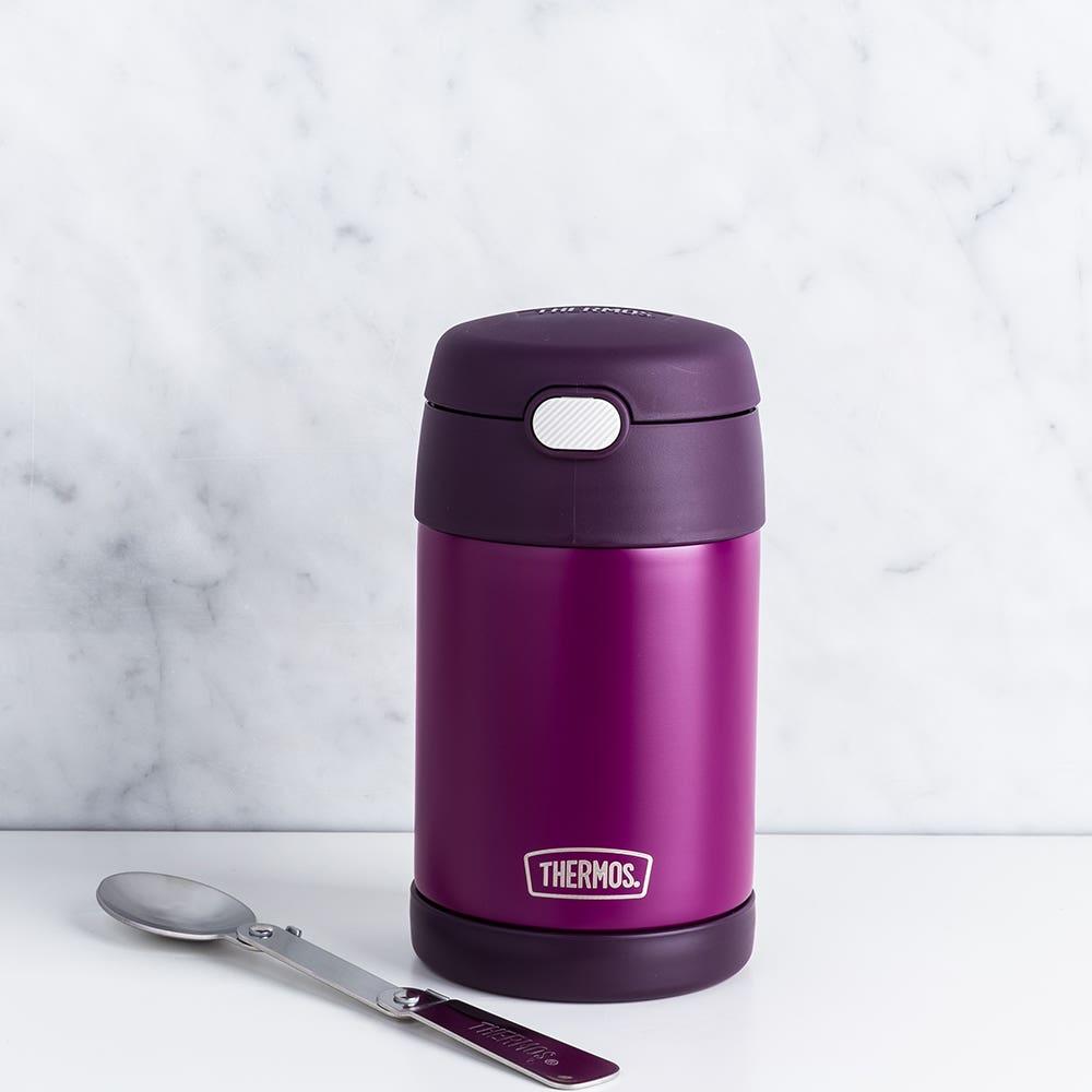 Thermos Funtainer Thermal Food Storage Jar-Spoon (Red Violet)