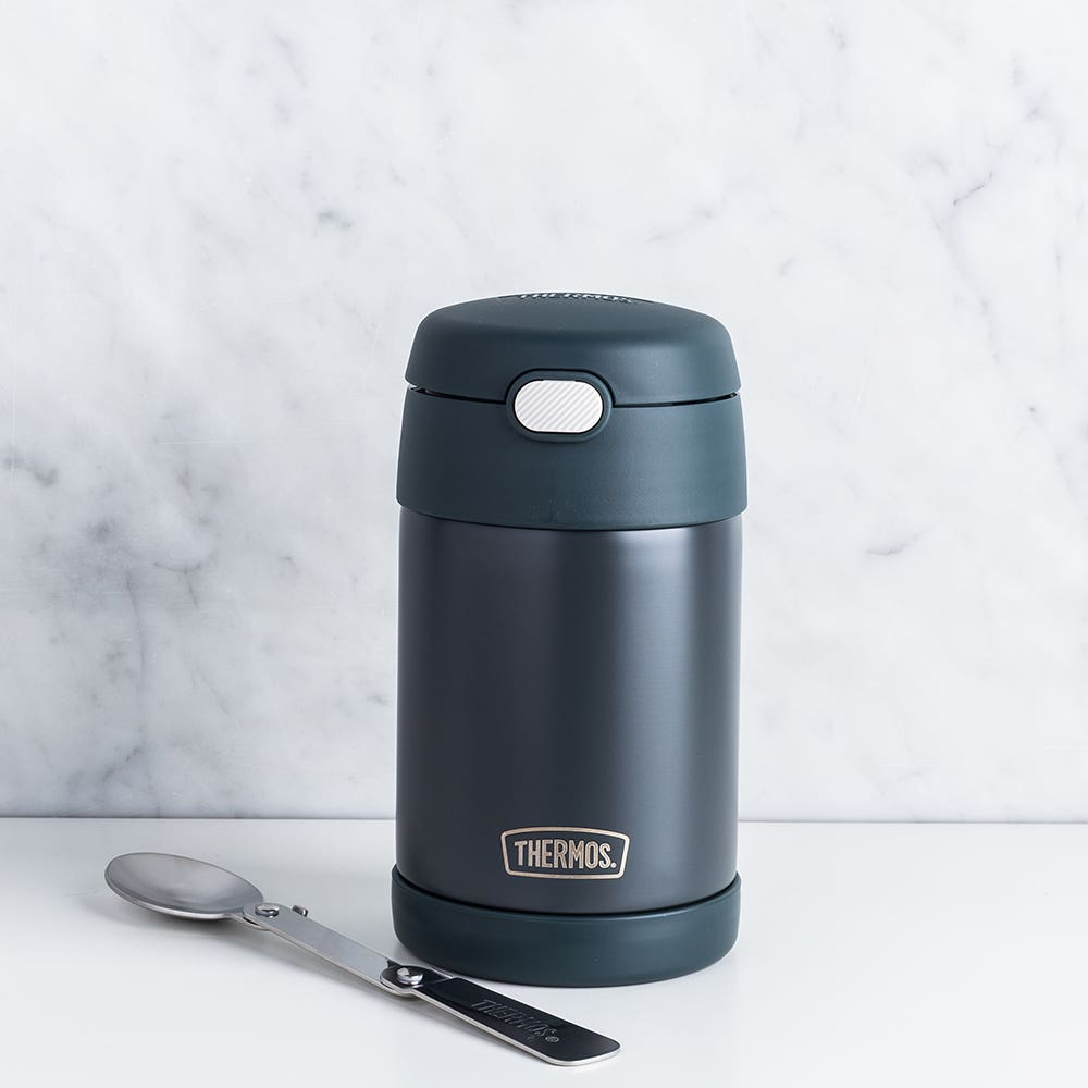Thermos Funtainer Thermal Food Storage Jar-Spoon (Stone Slate)