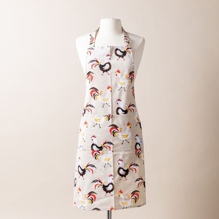 Now Printed Apron Roosters