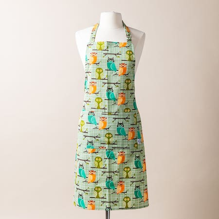 Now Printed Apron Owls