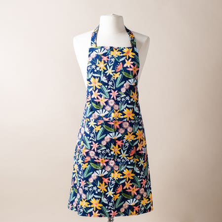 Now Printed Apron Flowers
