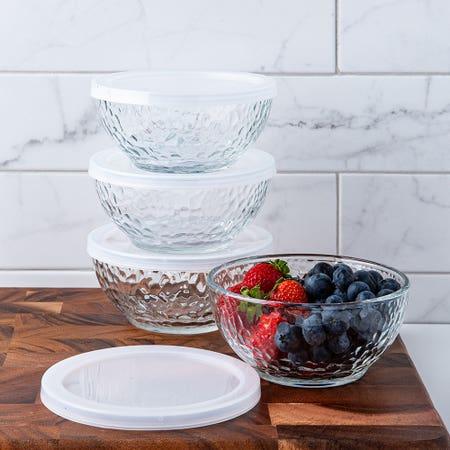 Libbey Glass Bowl W Lid S 4