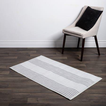 Floor Mat 30X50 L Stripe Wht
