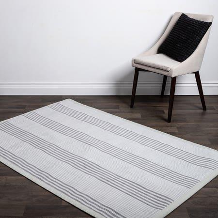 Floor Mat 48X72 L Stripe Wht