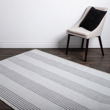 Floor Mat 60X84 L Stripe Wht