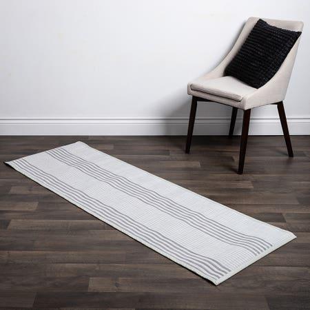 Floor Mat 24X72 L Stripe Wht