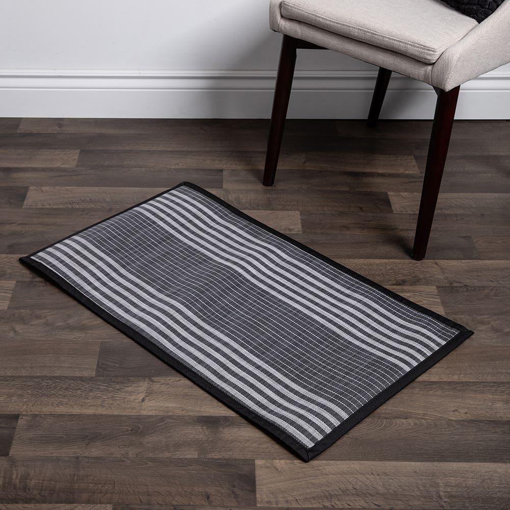 Floor Mat 20X34 L Stripe Blk