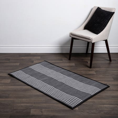 Floor Mat 30X50 L Stripe Blk
