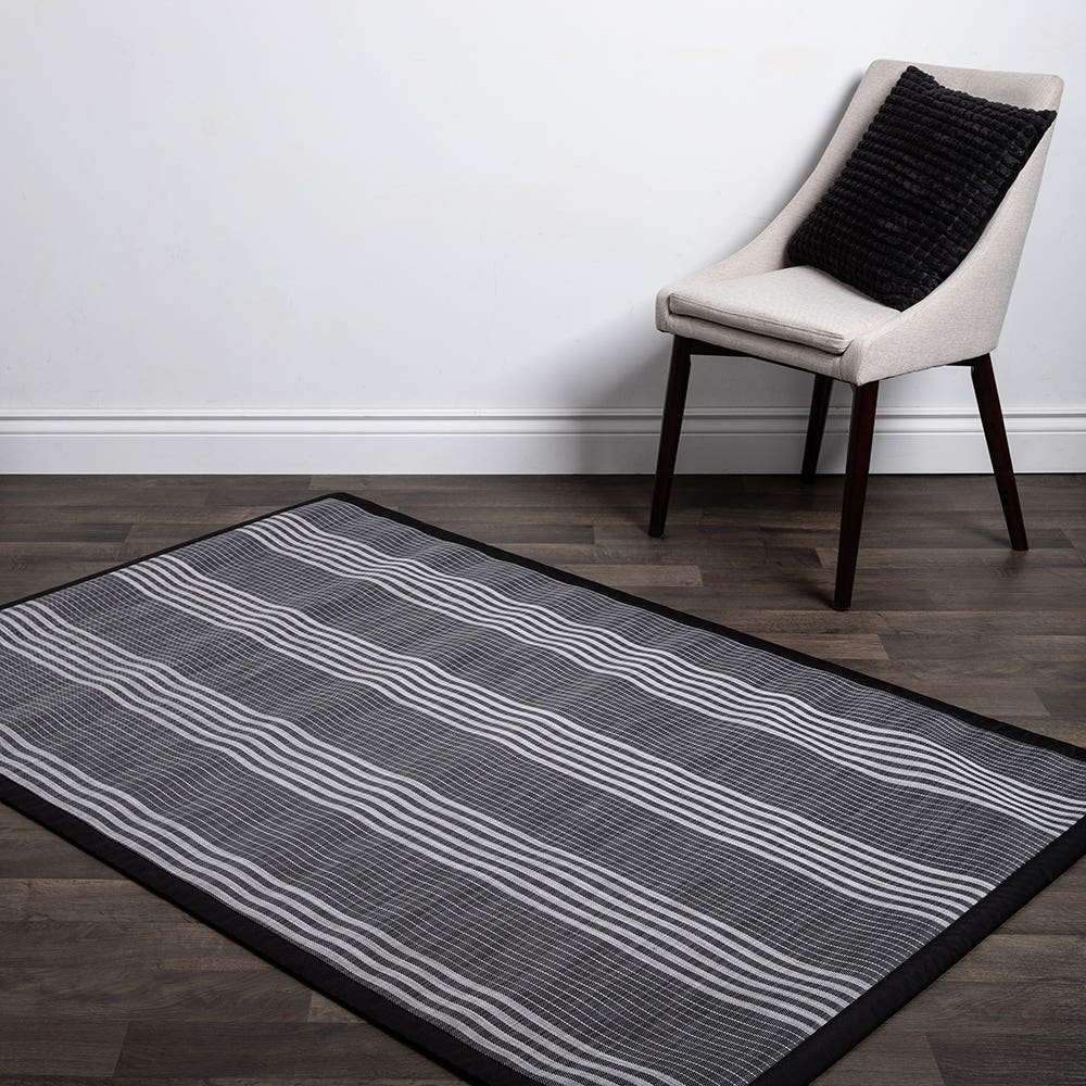 Floor Mat 48X72 L Stripe Blk