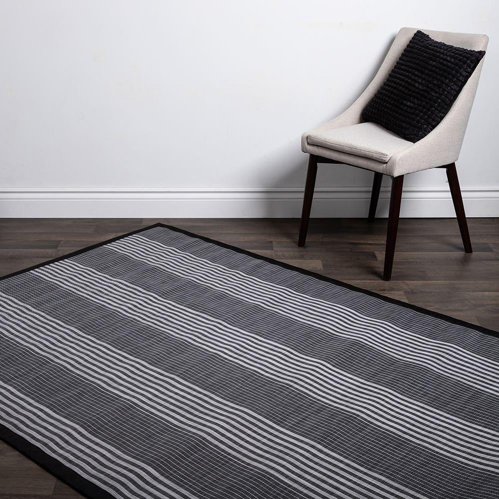 Floor Mat 60X84 L Stripe Blk