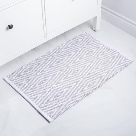 Bathmat Oxford 20X32 Grey Wht