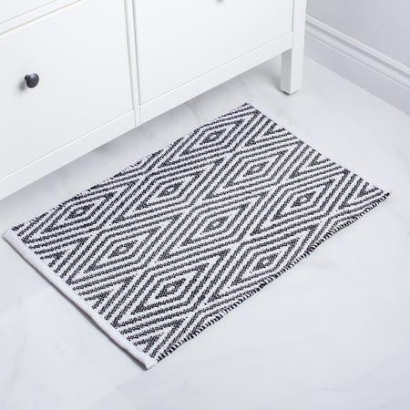 Bathmat Oxford 20X32 Blk Wht