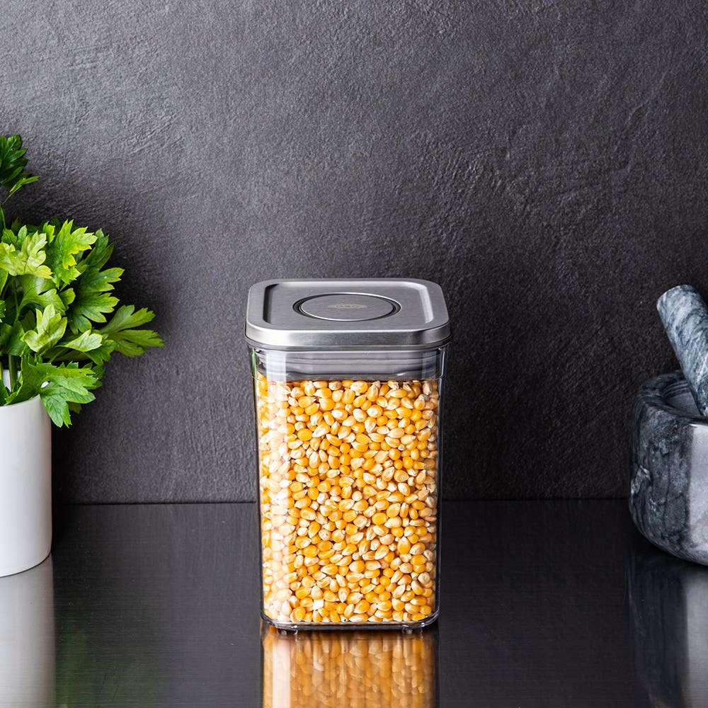 OXO Good Grips Steel Pop 2.0 'Short' Storage Canister Square 1L