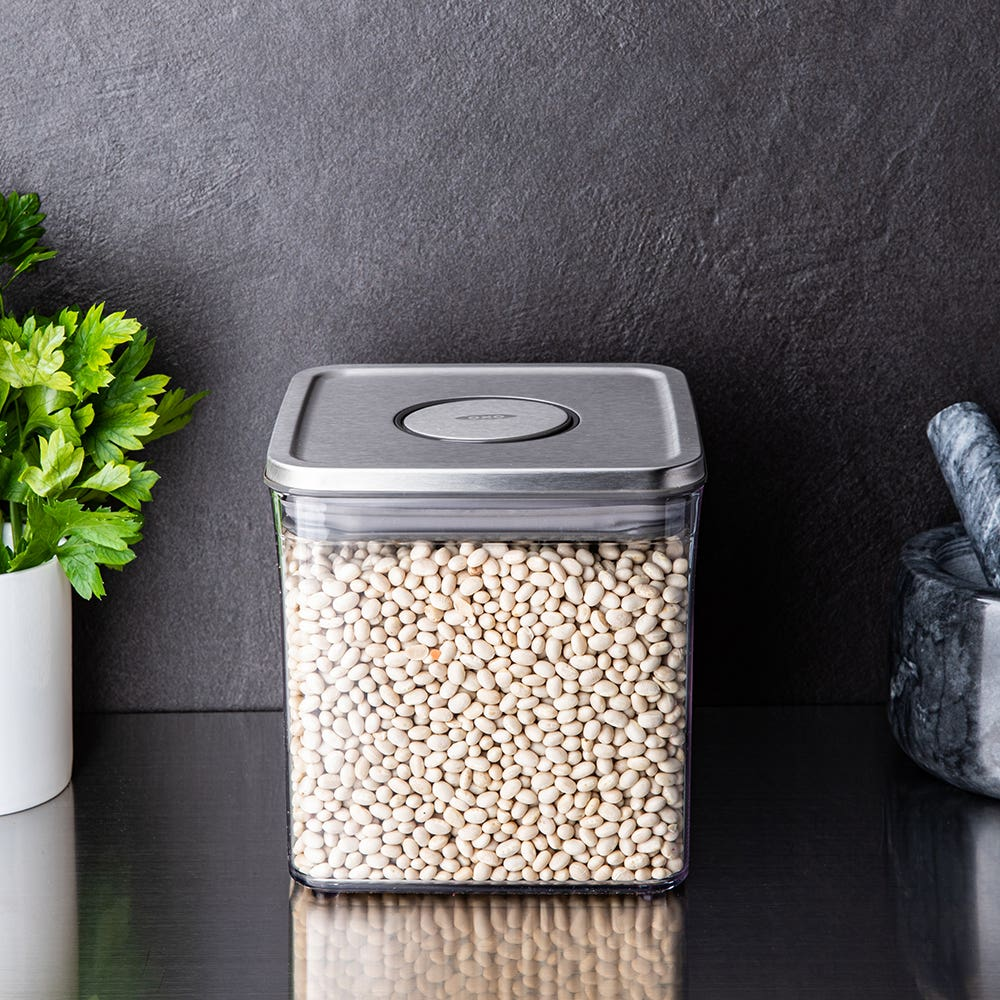OXO Good Grips Steel Pop 2.0 'Short' Storage Canister Square 2.6L