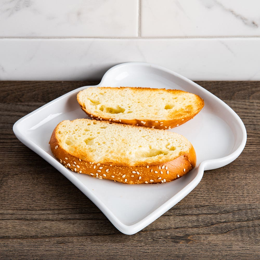 BIA Basic White Porcelain Toast Plate (White)