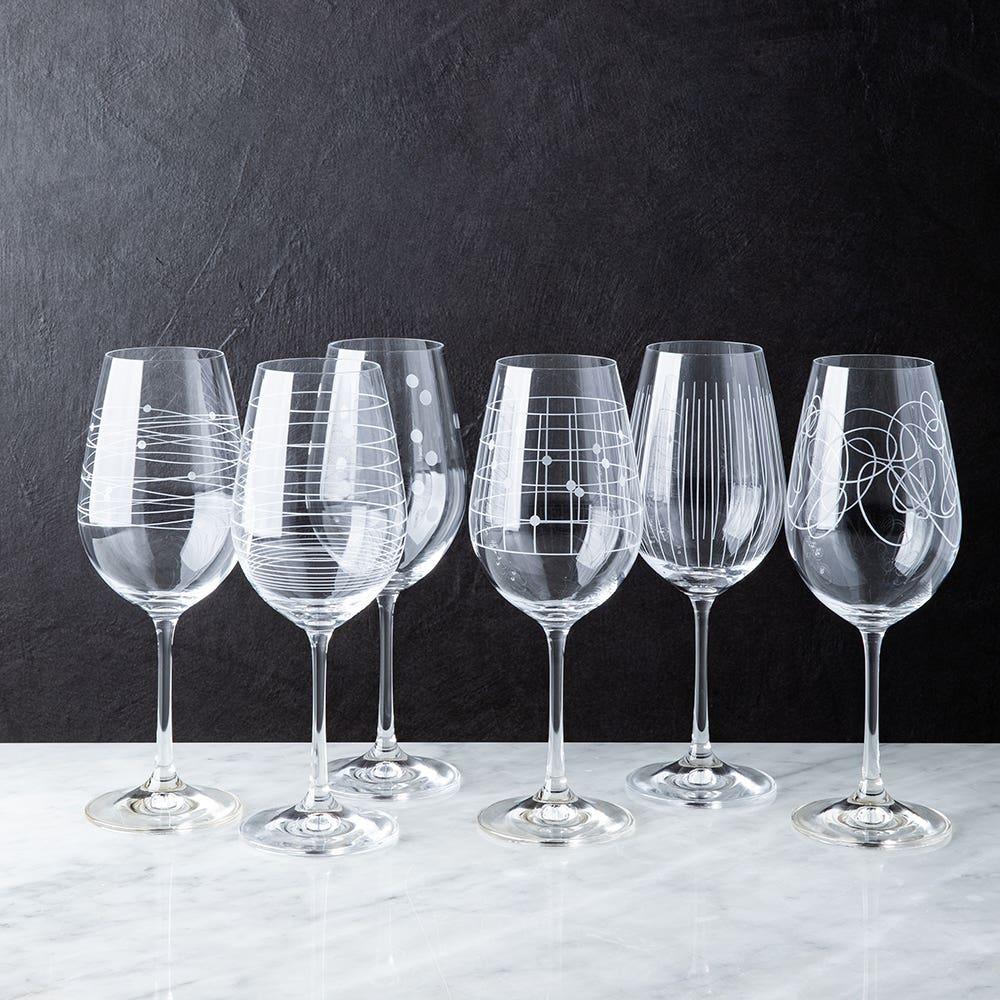 Bohemia Elements Lead-Free Crystal Wine Glass - Set of 6