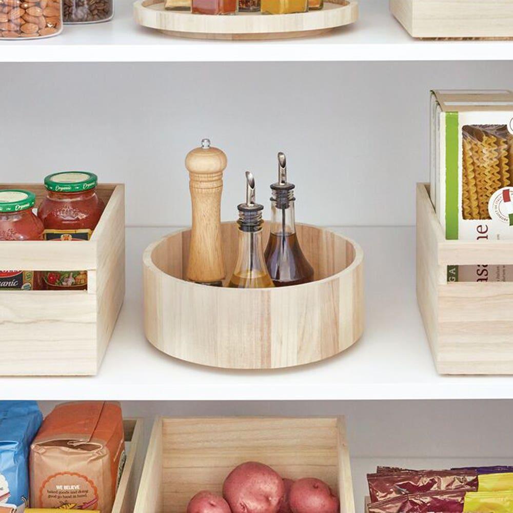 iDesign EcoWood Paulownia Wood 'Tall' Turntable (Natural)