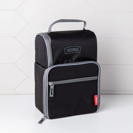 Thermos Dual Lunch Bag Black