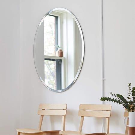 Beveled Edge Oval Mirror 22X28