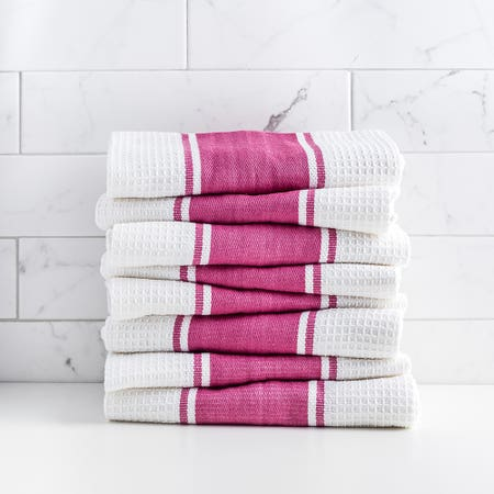 D Stripe K Towel S 8 Red