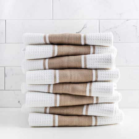 D Stripe K Towel S 8 Taupe