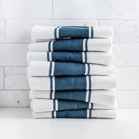D Stripe K Towel S 8 Navy