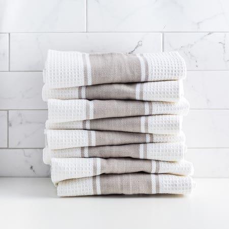 D Stripe K Towel S 8 Grey