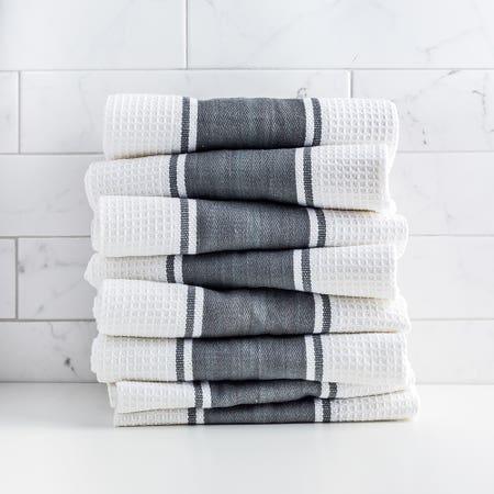D Stripe K Towel S 8 Charcoal