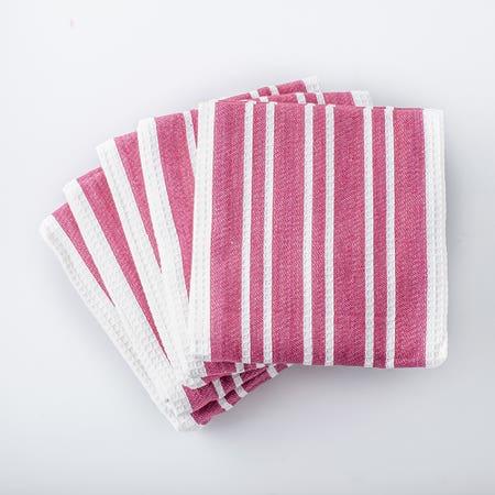 H Stripe K Towel S 8 Red