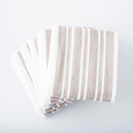 H Stripe K Towel S 8 Grey
