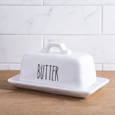 F House Mdrn Butter Dish